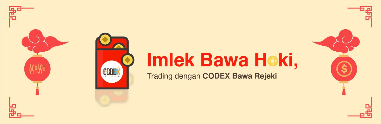 Imlek bawa hoki, trading pakai codex bawa rejeki