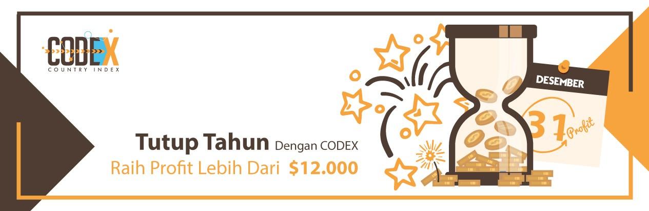 Tutup Tahun Dengan Codex Raih Profit Sampai $12000